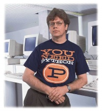 "Guido van Rossum (""By the way, the language is named after the BBC show Monty Python's Flying Circus and has nothing to do with nasty reptiles"")"
